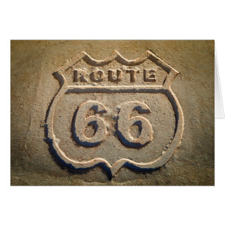 Route 66 historic sign, Arizona Card