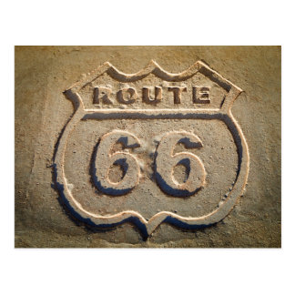 Route 66 historic sign, Arizona Postcard