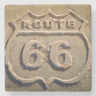 Route 66 historic sign, Arizona Stone Beverage Coaster