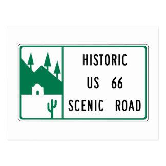 Route 66 - Historic US 66 Scenic Road Postcard