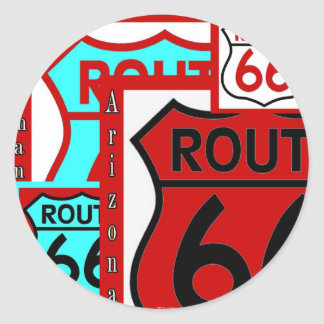 Route 66 Kingman Arizona Classic Round Sticker