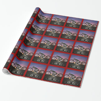 Route 66 Motorcycle - SRF Wrapping Paper