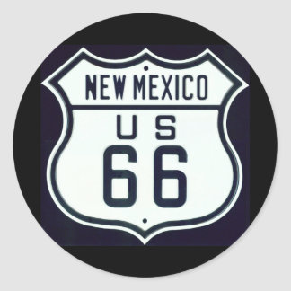 Route 66 New Mexico Classic Round Sticker