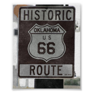 Route 66 Oklahoma Sign Poster