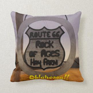 Route 66 Oklahoma Square Pillow