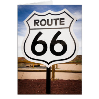 Route 66 road sign, Arizona Card