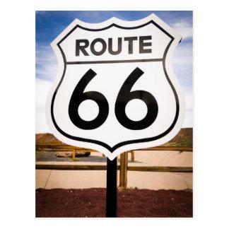 Route 66 road sign, Arizona Postcard
