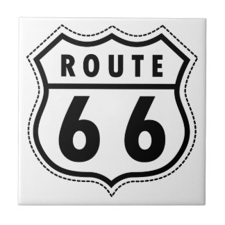 Route 66 Road Sign Tile