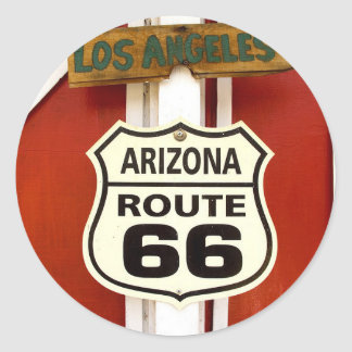 Route 66 Seligman Arizona Usa Classic Round Sticker