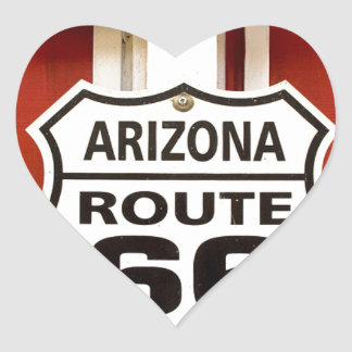 Route 66 Seligman Arizona Usa Heart Sticker