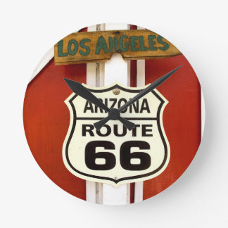 Route 66 Seligman Arizona Usa Round Clock