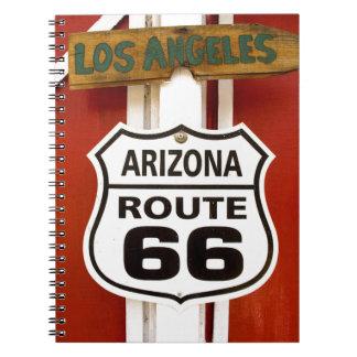 Route 66 Seligman Arizona Usa Spiral Notebook