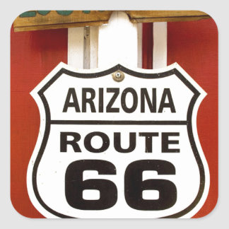 Route 66 Seligman Arizona Usa Square Sticker