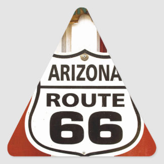 Route 66 Seligman Arizona Usa Triangle Sticker