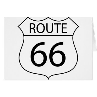 Route 66 Sign Drawing Card