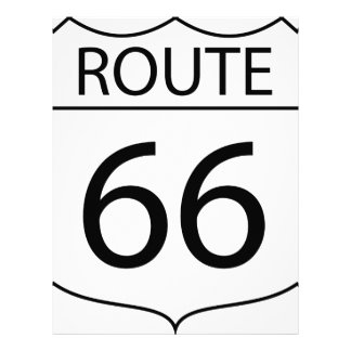 Route 66 Sign Drawing Letterhead