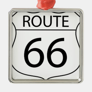 Route 66 Sign Drawing Metal Ornament