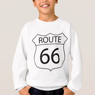Route 66 Sign Drawing Sweatshirt