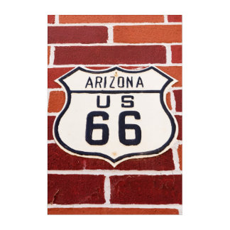 Route 66 Sign On Brick Acrylic Print