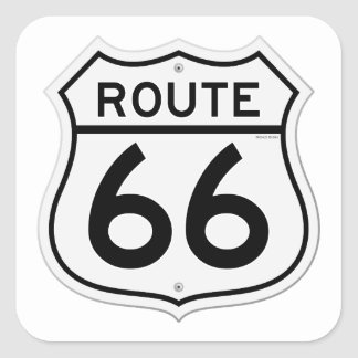 Route 66 Sign Square Sticker