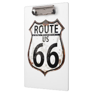 Route 66 Signs Clipboard