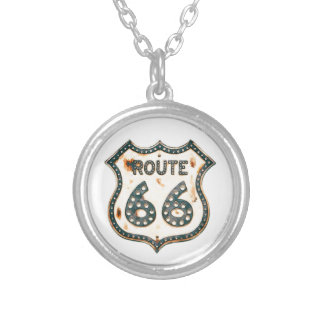 Route 66 silver plated necklace