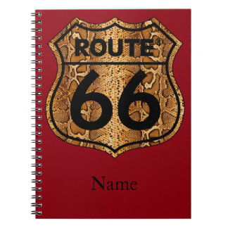 Route 66 Snake Skin Gift Notebook