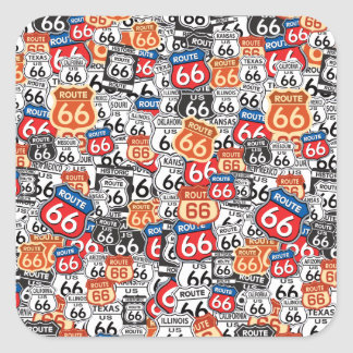 Route 66 square sticker