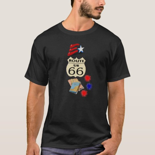 Route 66 Stars and Stripes -T-shirt T-Shirt