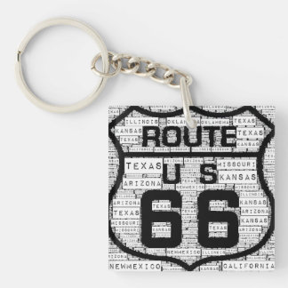 Route 66 States Keychain