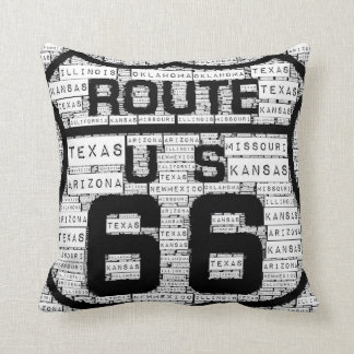 Route 66 States Pillow