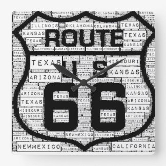 Route 66 States Wall Clock