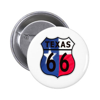 Route 66 Texas Color 2 Inch Round Button