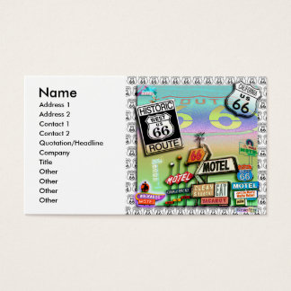 Route 66 - The Mother Road Business Cards