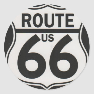 Route 66 - The Mother Road Classic Round Sticker