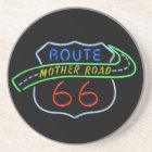 Route 66, The Mother Road, Neon Sign Coaster