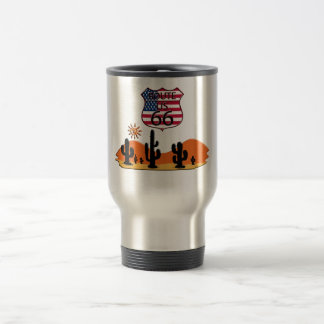 Route 66 travel mug