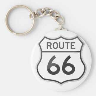 Route 66 US Scenic Historic Highway Road Trip Basic Round Button Keychain