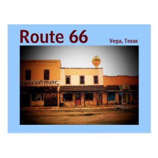 Route 66 (Vega) Postcard