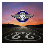 Route 66 - Vintage / Classic - SRF Poster