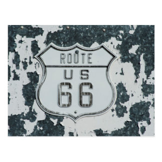 Route 66 vintage sign postcard