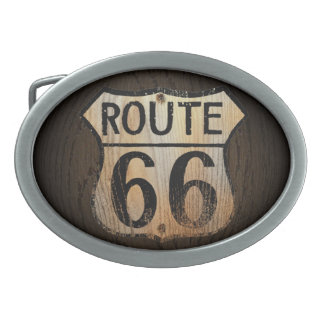 Route 66 Wood BG - Belt Buckle