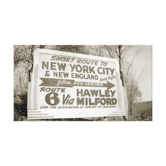 Route 6 Billboard Hawley Pennsylvania Milford PA Canvas Print
