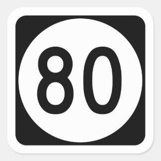 Route 80, Kentucky, USA Square Sticker