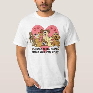 Route à mon chien de coeur t-shirt