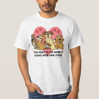 Route à mon chien de coeur tshirt