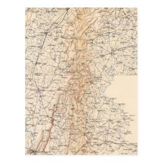 Route, Gettysburg campaign Postcard