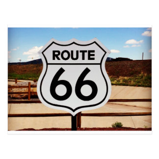 route sixty six usa americana hot rod rat rod postcard