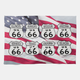 Route US 66 States Kitchen Towel