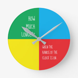 Routine Children's Color - Green Blue Yellow Red Round Clock